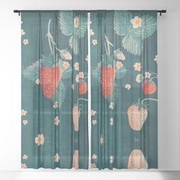 Strawberries Sheer Curtain