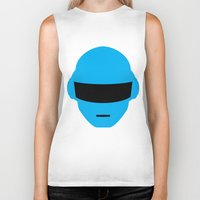 deadmau5 Biker Tanks featuring Daft Punk Thomas Bangalter Helmet by Alli Vanes