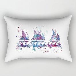 Little boats Rectangular Pillow