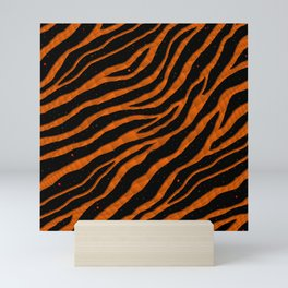 Ripped SpaceTime Stripes - Orange Mini Art Print