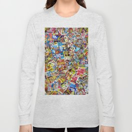 Cereal Boxes Collage Long Sleeve T-shirt