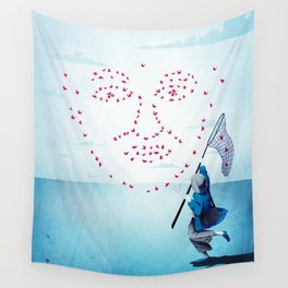 face data collecting Wall Tapestry