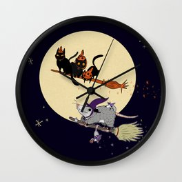 Witches' Familiars? Wall Clock