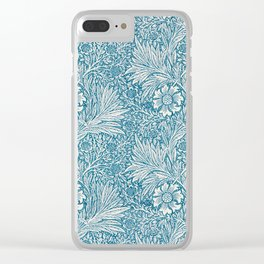 Vintage Block Printed Floral Pattern by William Morris, 1875 Clear iPhone Case
