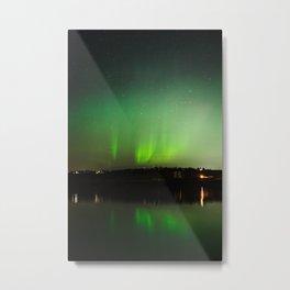 Northern Lights over Emerald Bay Metal Print