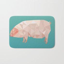 Geometric Pig Bath Mat