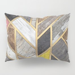 Rustic Scandinavian Design Colorful Pillow Sham