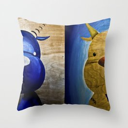 2 Bubs Throw Pillow