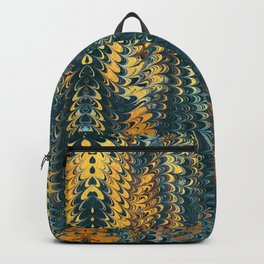 gold cactus marble Backpack