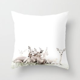africa is a feeling - young antelope Throw Pillow