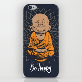 Be Happy Little Buddha iPhone Skin