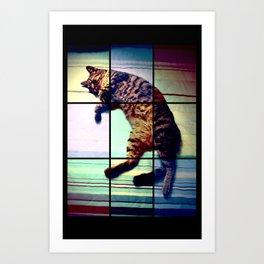 Cat (mosaico) Art Print
