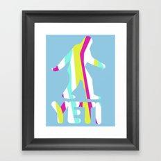 Grand Theft Yeti Framed Art Print