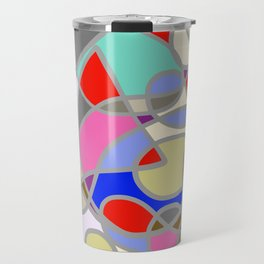 Stain Glass Abstract Meditation Painting 1 Travel Mug