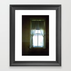 curtains Framed Art Print