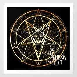 Cult of the Great Pumpkin: Pentagram Art Print