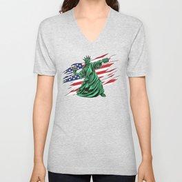 Lady Liberty Riot - Anti Government Unisex V-Neck