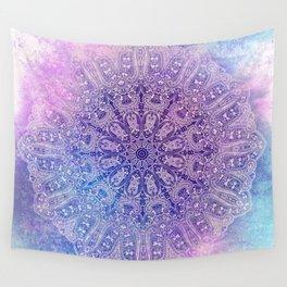 big paisley mandala in light purple Wall Tapestry