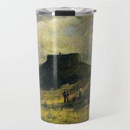 African American Masterpiece 'Fort Dumpling, Jamestown, Rhode Island' by Edward Mitchell Bannister Travel Mug