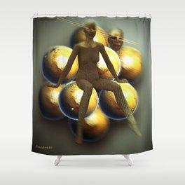 Golden globes  Shower Curtain