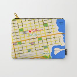 Map of Pensacola, FL - East Hill Christian School Carry-All Pouch