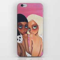 charmaine iPhone & iPod Skins featuring Pink Ladies by Charmaine D'Silva