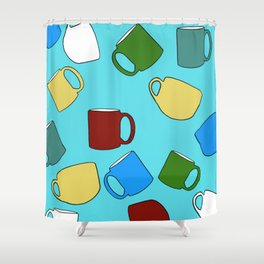Coffee Mugs! Shower Curtain