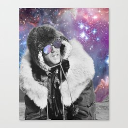 People of the Universe-Space Glasses-Purple Canvas Print