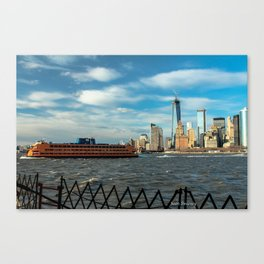 Freedom Tower 2013 w/ Boat Canvas Print