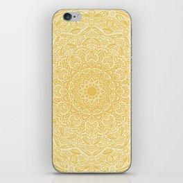 Most Detailed Mandala! Yellow Golden Color Intricate Detail Ethnic Mandalas Zentangle Maze Pattern iPhone Skin