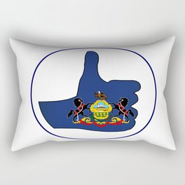 Thumbs Up Pennsylvania Rectangular Pillow