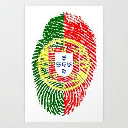 Portugal Flag Finger Prints Art Print