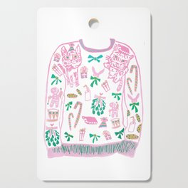 Ugly (but cute) Christmas Sweater Cutting Board