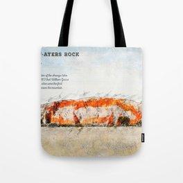 Uluru, Ayers Rock Tote Bag
