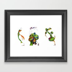Green Aristocrats Framed Art Print