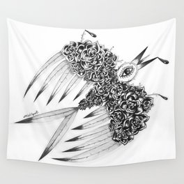 """ Spring"" (b&w) Wall Tapestry"