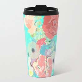 A heart, a bird and flowers. Travel Mug