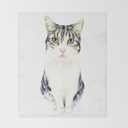 Little cat Harry Throw Blanket