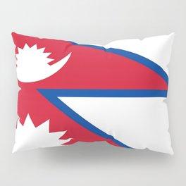 flag of nepal-nepal,buddhism,Nepali, Nepalese,india,asia,Kathmandu,Pokhara,tibet Pillow Sham