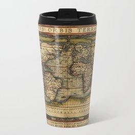 Vintage World Map - Ortelius World Map 1570 Travel Mug