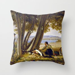 William Sidney Mount Caught Napping (Boys Caught Napping in a Field) Throw Pillow