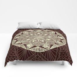 Maroon Mandala 2 Comforters