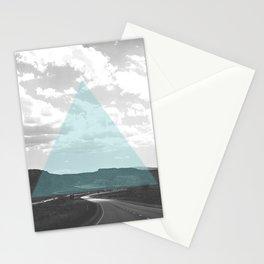 Geo Trip Cyan Stationery Cards