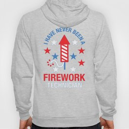 FIREWORK TECHNICIAN RED WHITE AND BLUE T-SHIRT Hoody