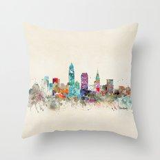 cleveland ohio Throw Pillow