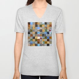 Pieces of Pictures Collage Unisex V-Neck