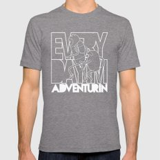 Every Day I'm Adventurin' - Light Mens Fitted Tee Tri-Grey SMALL
