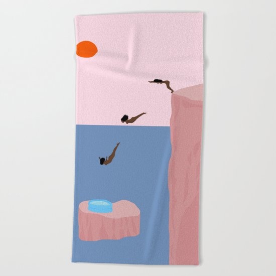Dive//Survive Beach Towel