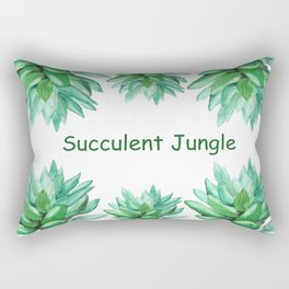 succulent echeveria Rectangular Pillow