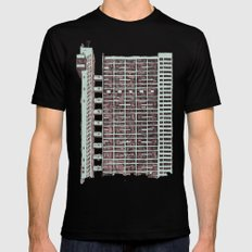 Brutalist Architecture Trellick Tower  LARGE Mens Fitted Tee Black